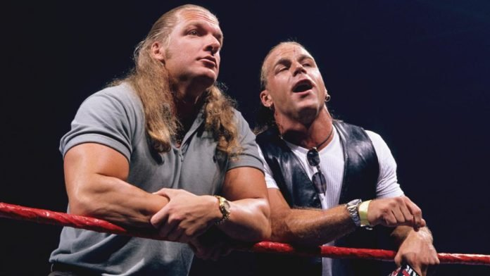 Triple h wishes shawn michaels happy birthday the rock responds to photo m4hsunfo