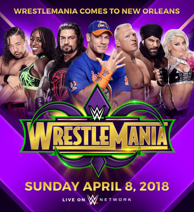 Image result for WrestleMania 34 Poster