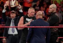 Brock Lesnar on Raw