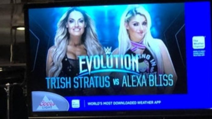 Alexa Bliss vs. Trish Stratus set for WWE Evolution pay-per-view