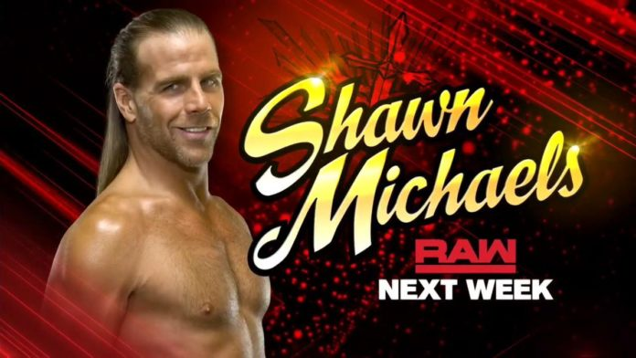 shawn michaels returns to wwe raw next week sescoops