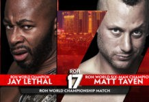 Jay Lethal vs Matt Taven will main event ROH's 17th Anniversary show.