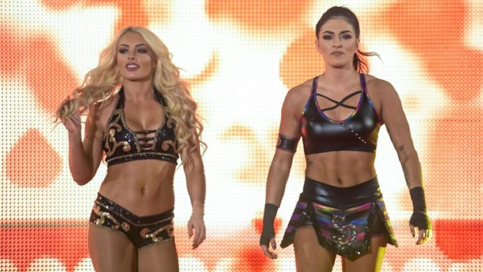Many Rose and Sonya Deville on SmackDown Live