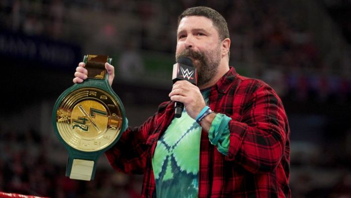 Mick Foley introducing the 24/7 belt. Photo Credit: WWE.com