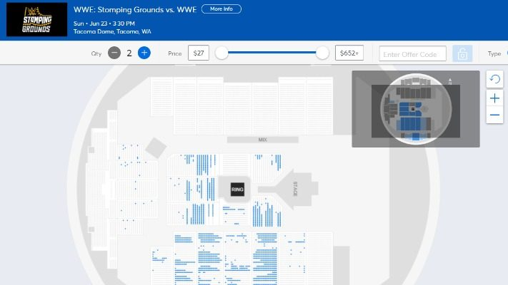 WWE Stomping Grounds Seating Chart