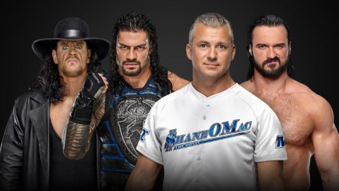 Roman Reigns & The Undertaker vs. Shane McMahon & Drew McIntyre