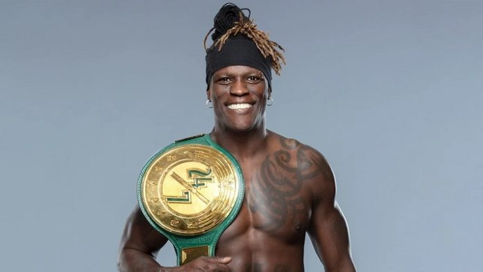 R Truth as the WWE 24/7 Champion