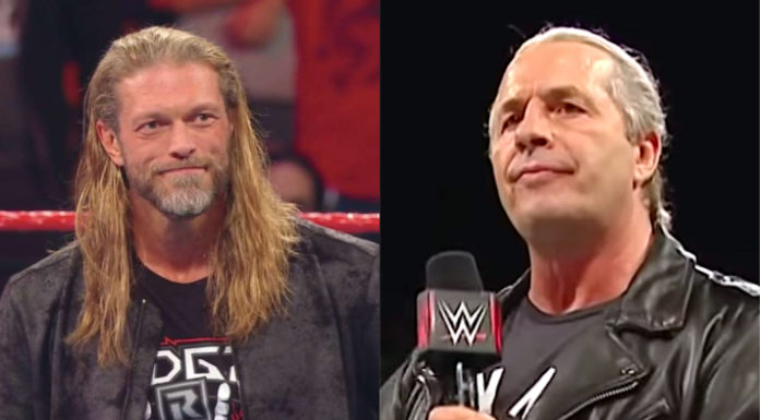 Edge and Bret Hart