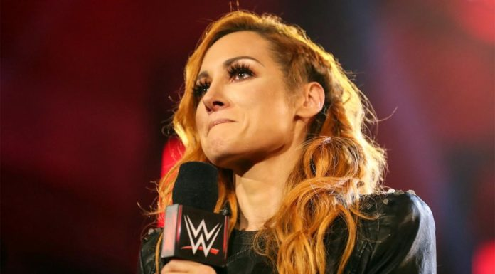 An emotional Becky Lynch announced her pregnancy on Raw