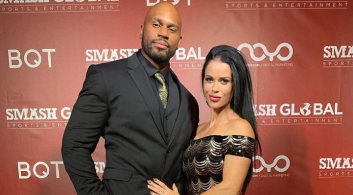 Shad Gaspard with his wife