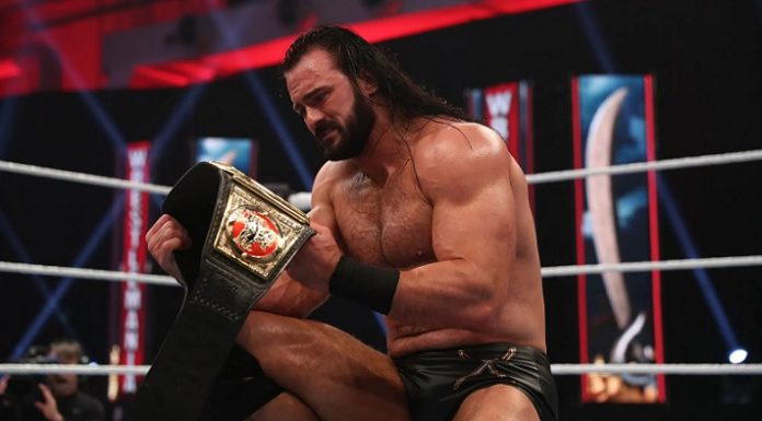 Drew McIntyre got emotional after his win at WrestleMania 36
