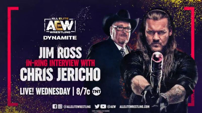 Chris Jericho Confirmed For Interview On Sept. 1 AEW Dynamite Episode AEW Dynamite IGNITE for 9/1/21